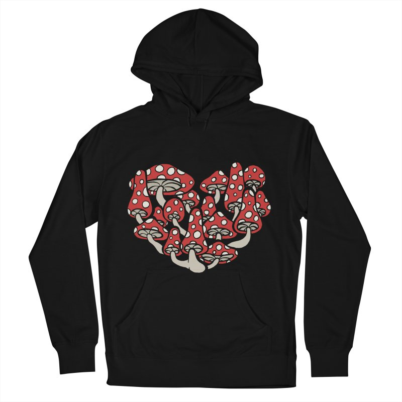 Heart Made of Mushrooms Women's French Terry Pullover Hoody by brettgilbert's Artist Shop