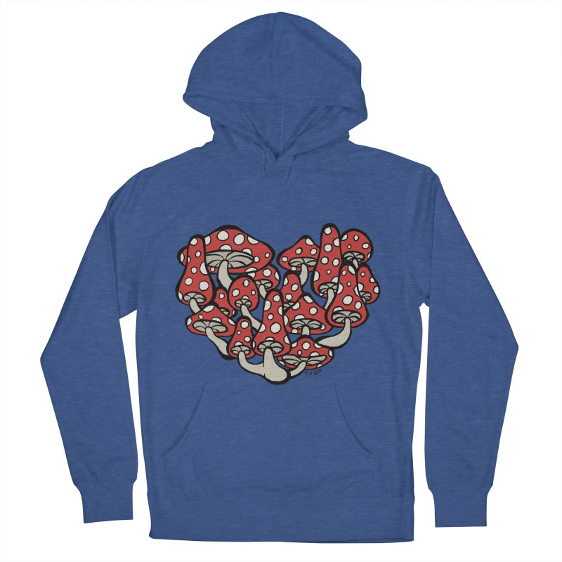 Heart Made of Mushrooms Men's French Terry Pullover Hoody by brettgilbert's Artist Shop