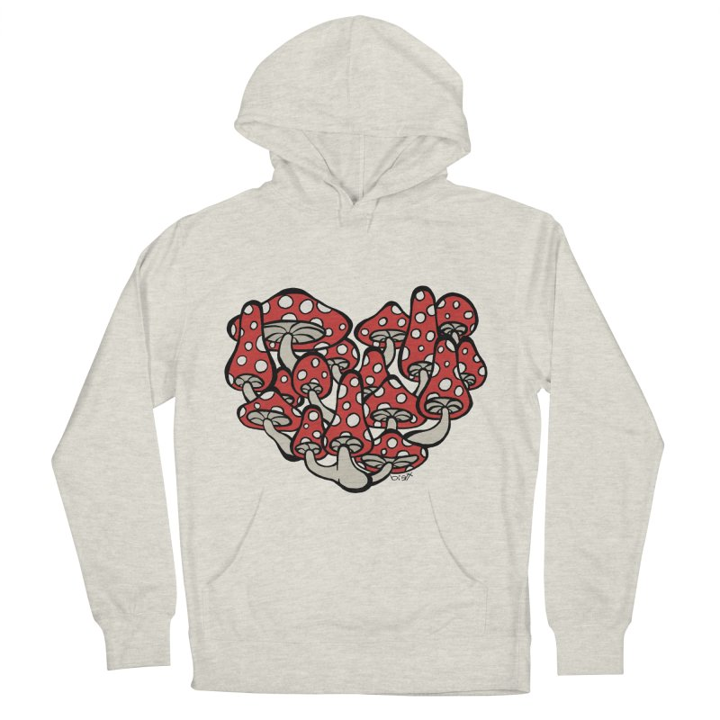 Heart Made of Mushrooms Men's Pullover Hoody by brettgilbert's Artist Shop