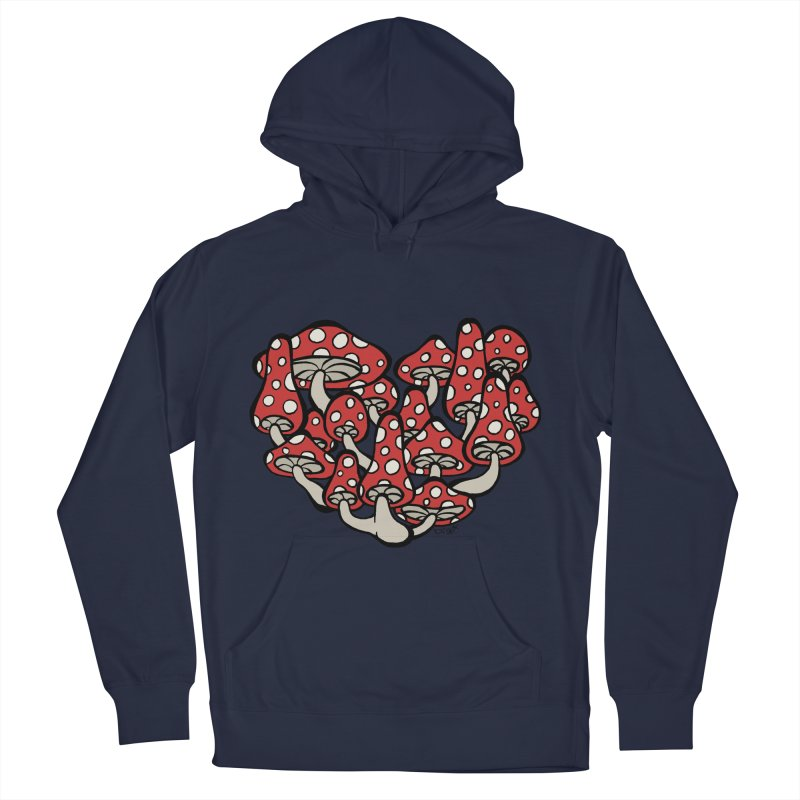 Heart Made of Mushrooms Men's French Terry Pullover Hoody by brettgilbert's Artist Shop