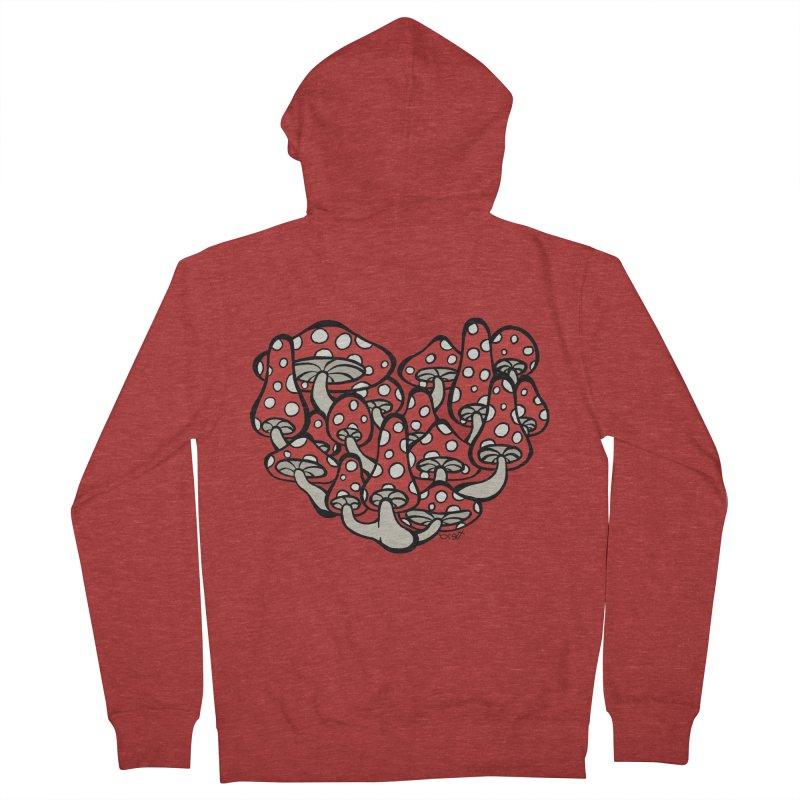 Heart Made of Mushrooms Women's Zip-Up Hoody by brettgilbert's Artist Shop