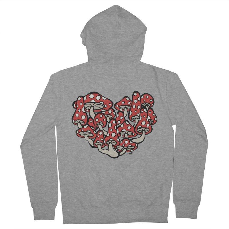 Heart Made of Mushrooms Men's Zip-Up Hoody by brettgilbert's Artist Shop