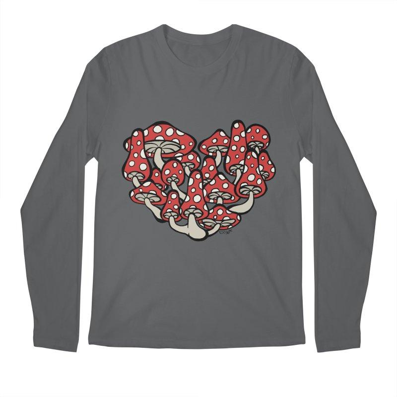 Heart Made of Mushrooms Men's Regular Longsleeve T-Shirt by brettgilbert's Artist Shop