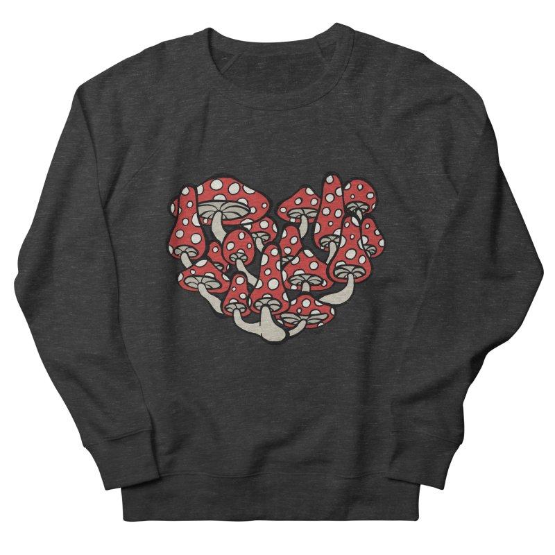 Heart Made of Mushrooms Women's French Terry Sweatshirt by brettgilbert's Artist Shop