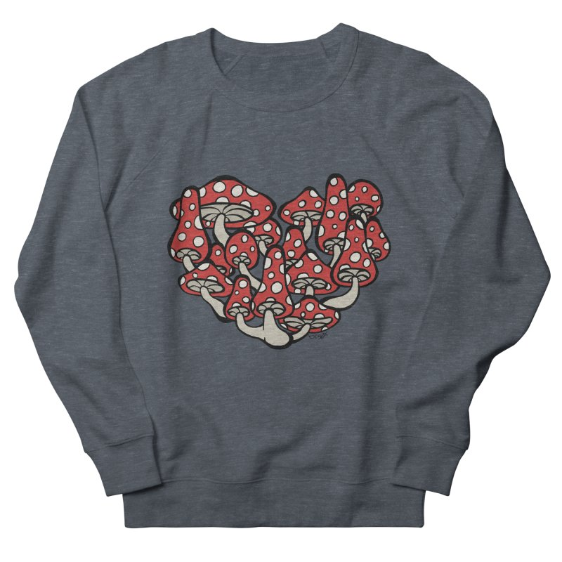 Heart Made of Mushrooms Women's Sweatshirt by brettgilbert's Artist Shop