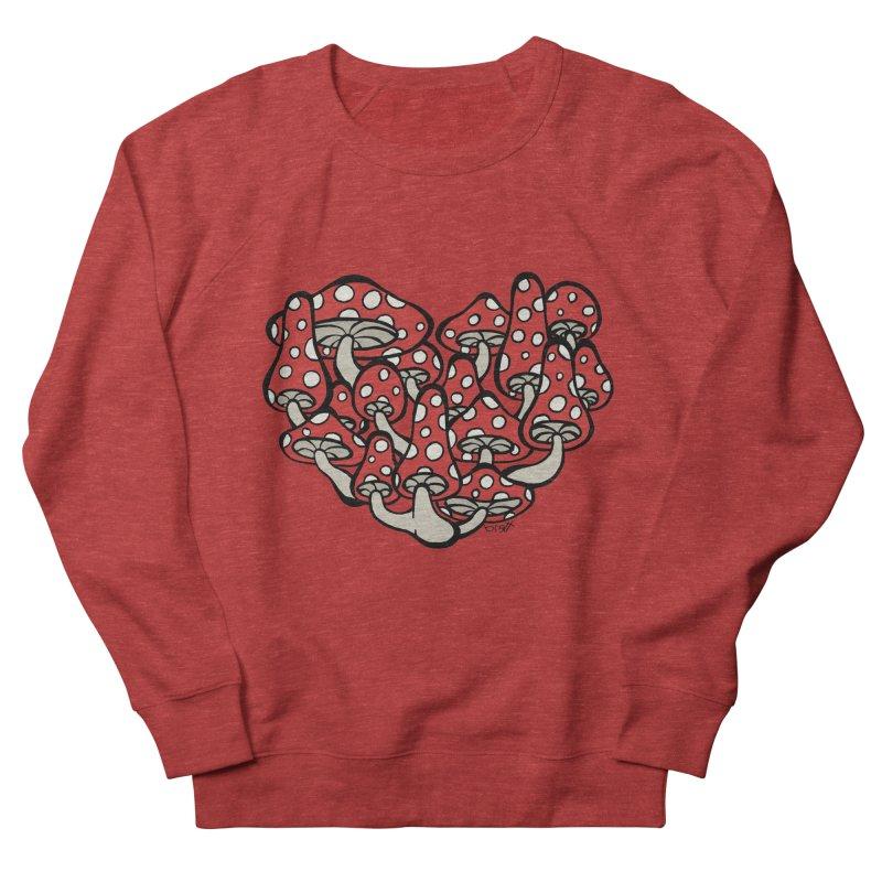 Heart Made of Mushrooms Women's Sweatshirt by brettgilbert's Artist Shop