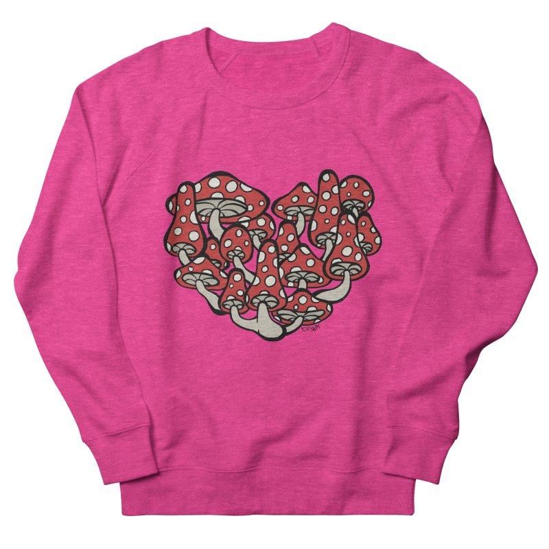Heart Made of Mushrooms Men's French Terry Sweatshirt by brettgilbert's Artist Shop