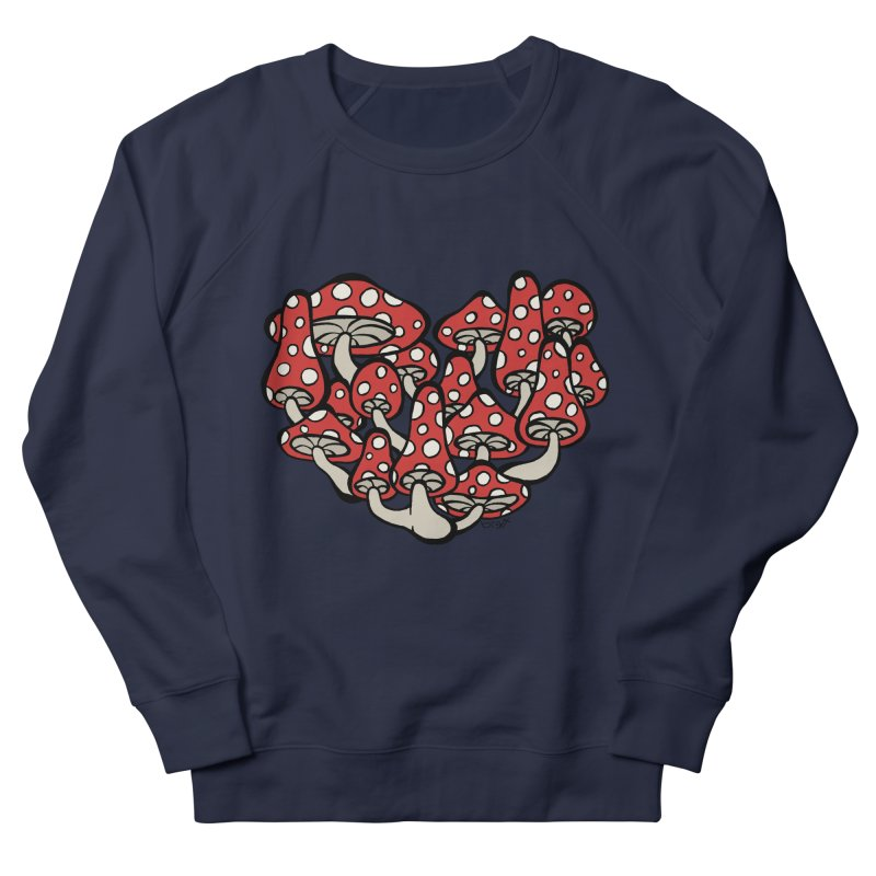 Heart Made of Mushrooms Men's Sweatshirt by brettgilbert's Artist Shop