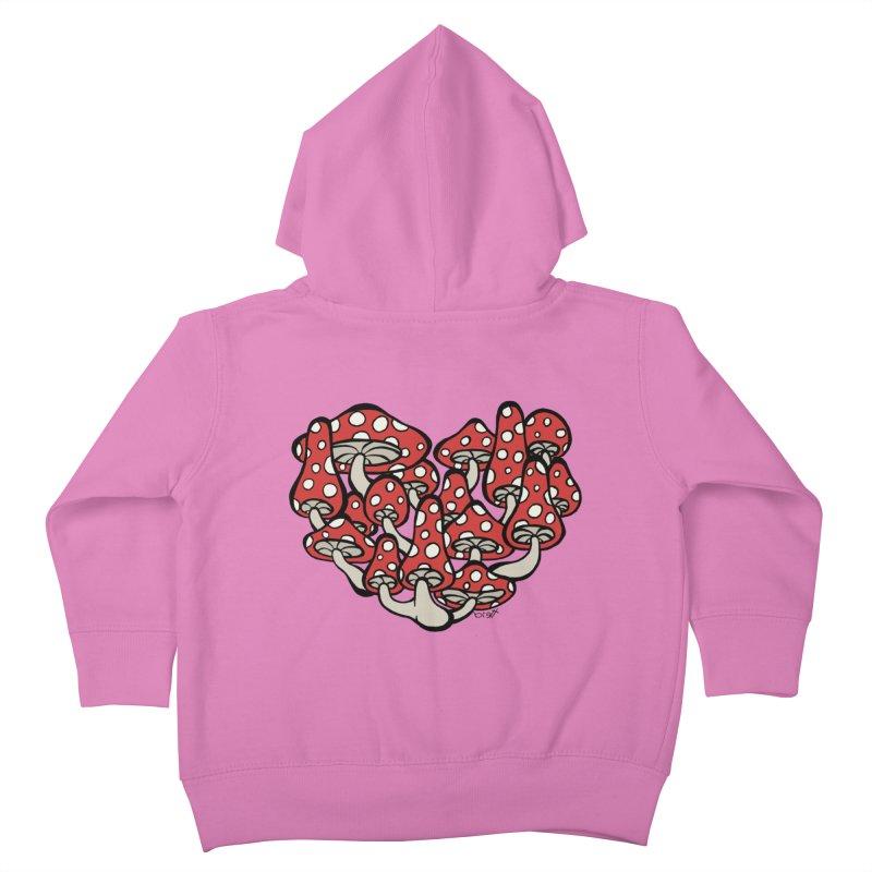 Heart Made of Mushrooms Kids Toddler Zip-Up Hoody by brettgilbert's Artist Shop