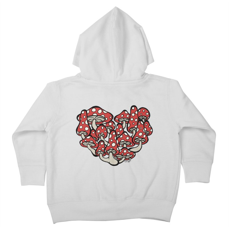 Heart Made of Mushrooms Kids Toddler Zip-Up Hoody by brettgilbert's Artist Shop