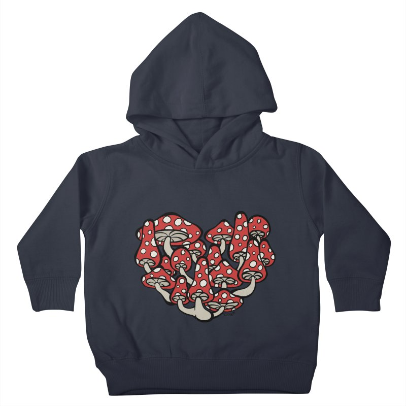 Heart Made of Mushrooms Kids Toddler Pullover Hoody by brettgilbert's Artist Shop