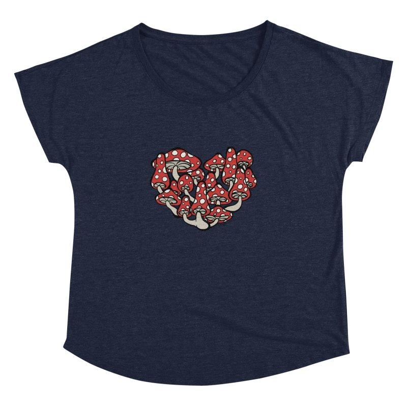 Heart Made of Mushrooms Women's Dolman by brettgilbert's Artist Shop