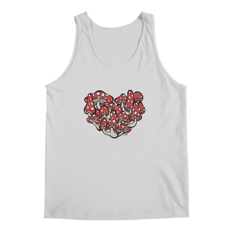 Heart Made of Mushrooms Men's Regular Tank by brettgilbert's Artist Shop
