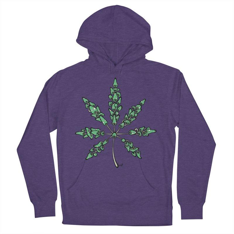 Leaf Made of Mushrooms (green version) Women's Pullover Hoody by brettgilbert's Artist Shop