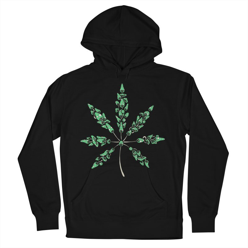 Leaf Made of Mushrooms (green version) Women's Pullover Hoody by brettgilbert's Artist Shop