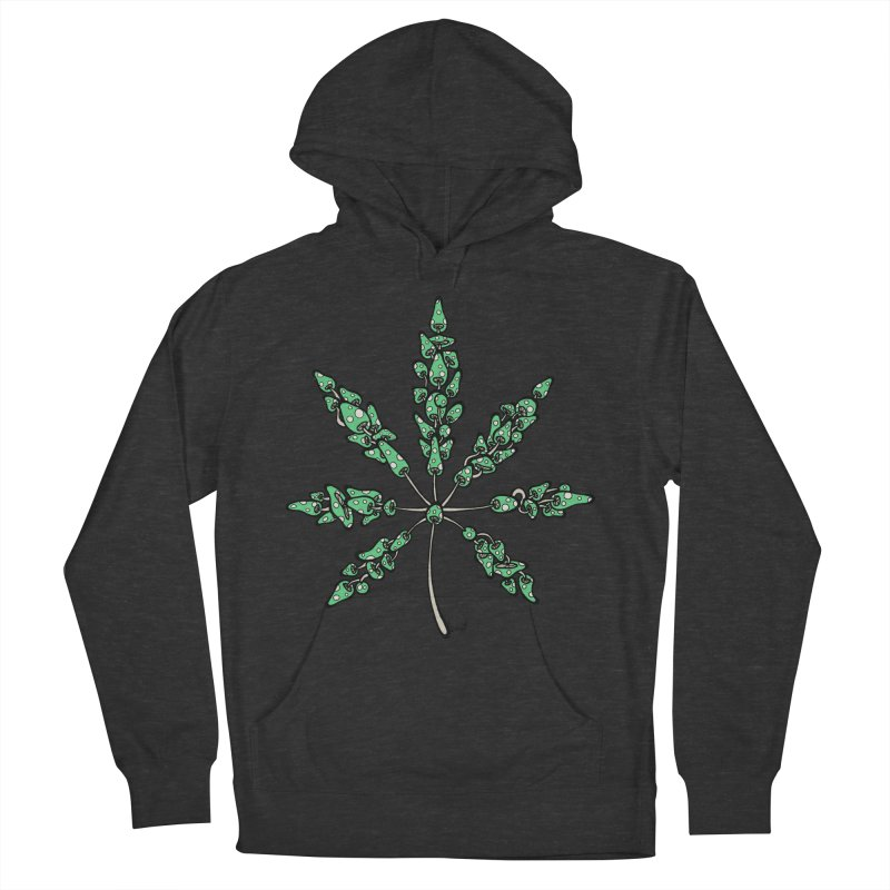 Leaf Made of Mushrooms (green version) Men's French Terry Pullover Hoody by brettgilbert's Artist Shop