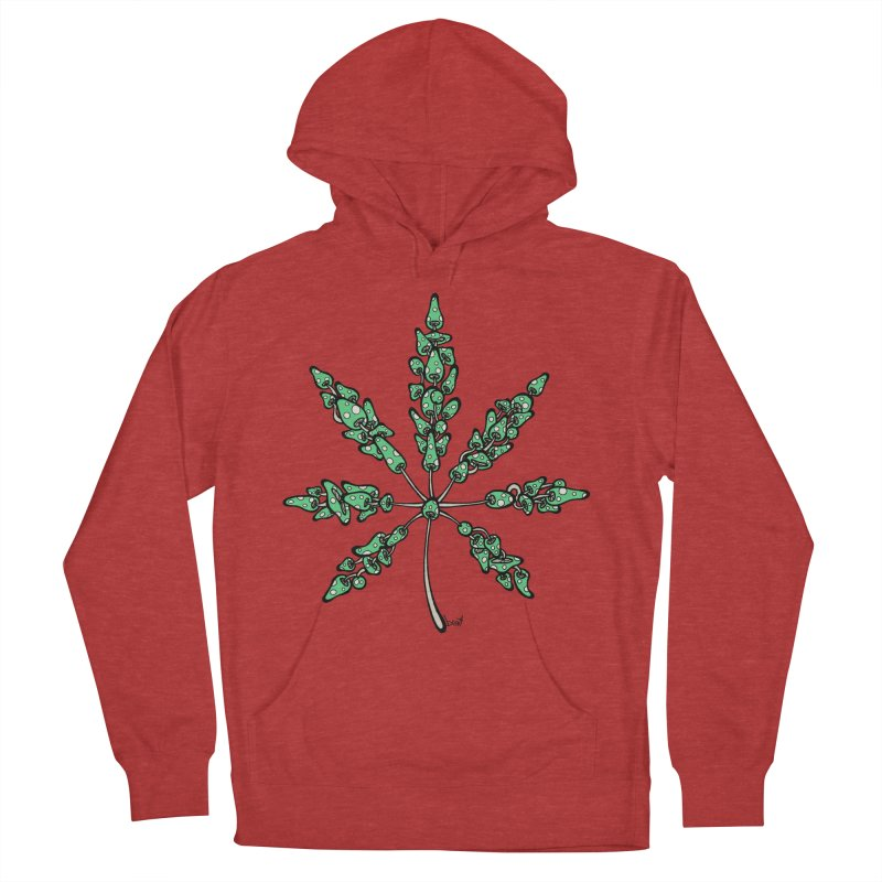 Leaf Made of Mushrooms (green version) Men's Pullover Hoody by brettgilbert's Artist Shop