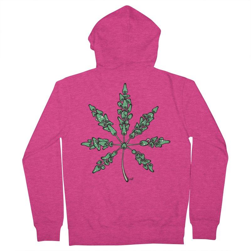 Leaf Made of Mushrooms (green version) Women's Zip-Up Hoody by brettgilbert's Artist Shop