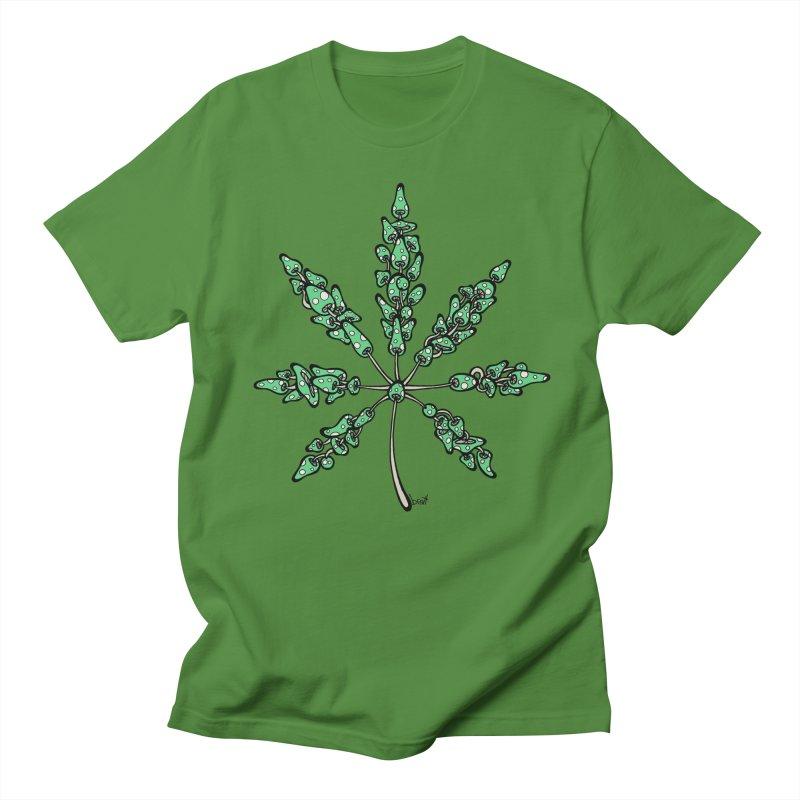 Leaf Made of Mushrooms (green version)   by brettgilbert's Artist Shop