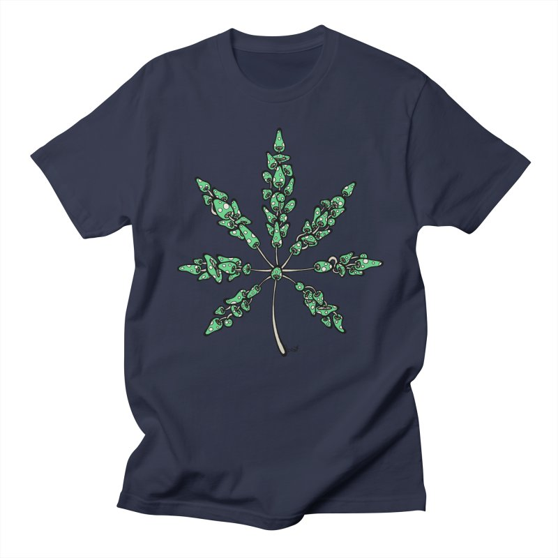 Leaf Made of Mushrooms (green version) Men's T-shirt by brettgilbert's Artist Shop