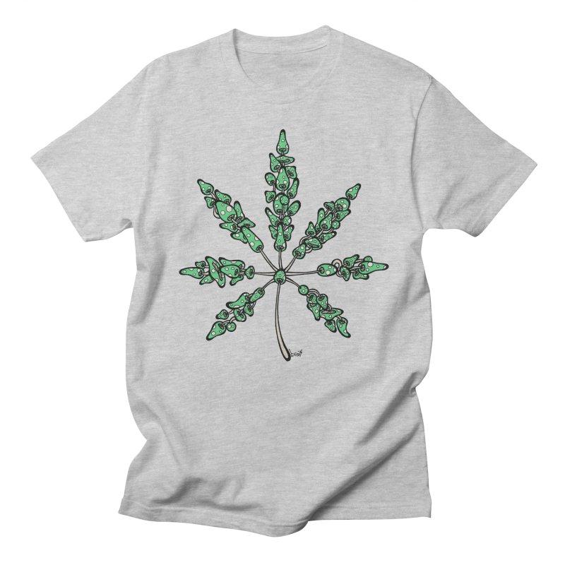 Leaf Made of Mushrooms (green version) Men's T-Shirt by brettgilbert's Artist Shop