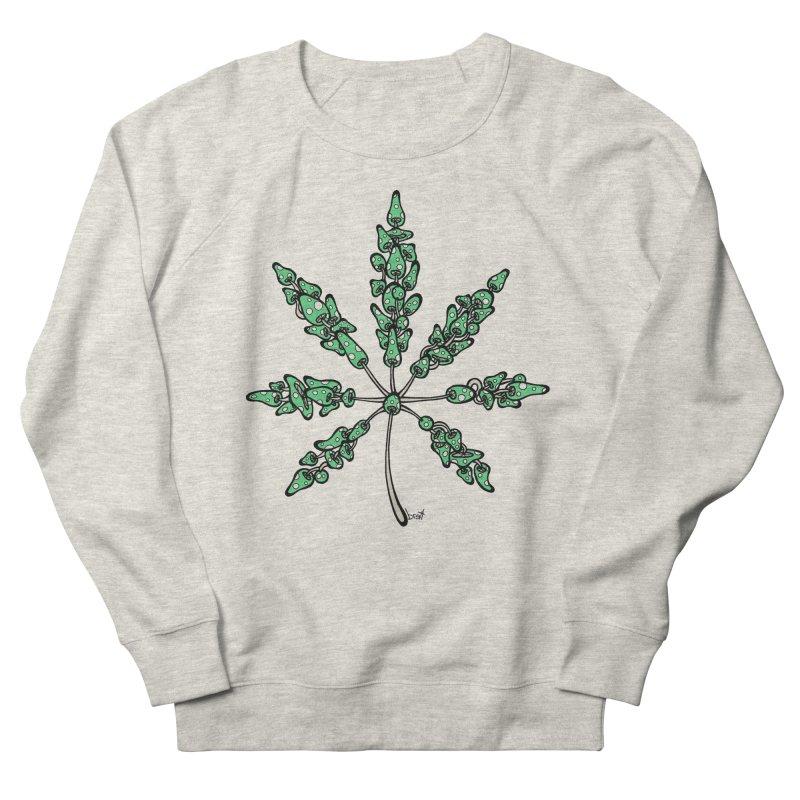 Leaf Made of Mushrooms (green version) Women's French Terry Sweatshirt by brettgilbert's Artist Shop