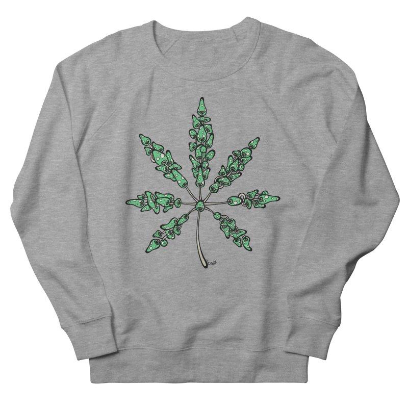 Leaf Made of Mushrooms (green version) Men's French Terry Sweatshirt by brettgilbert's Artist Shop