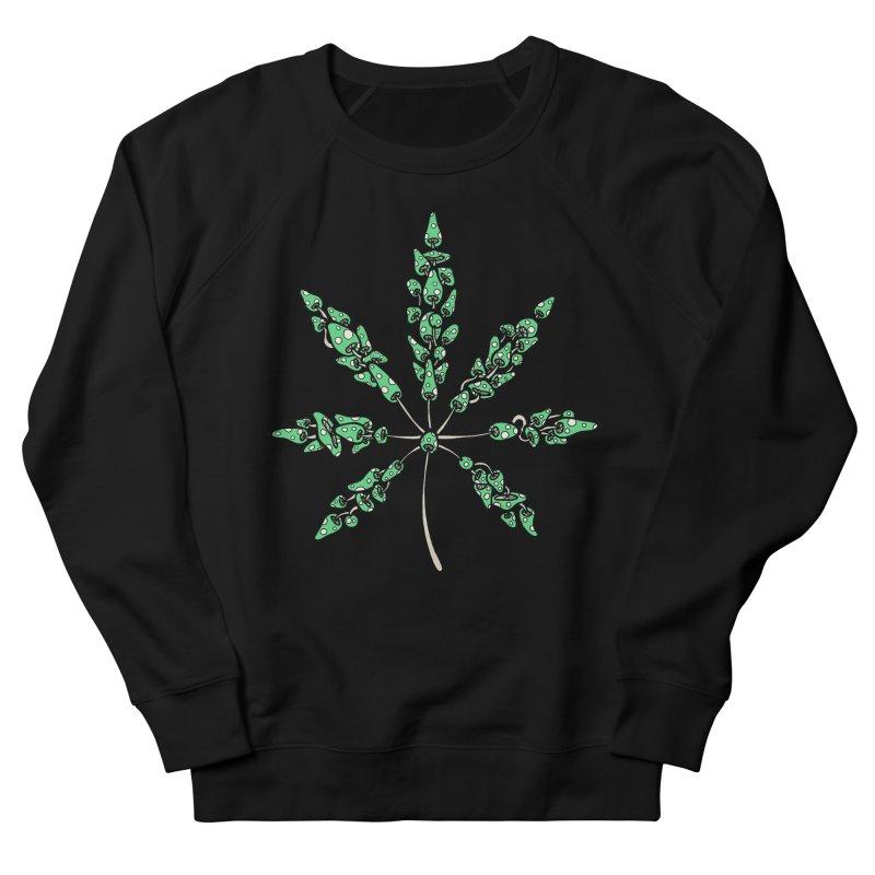 Leaf Made of Mushrooms (green version) Men's Sweatshirt by brettgilbert's Artist Shop