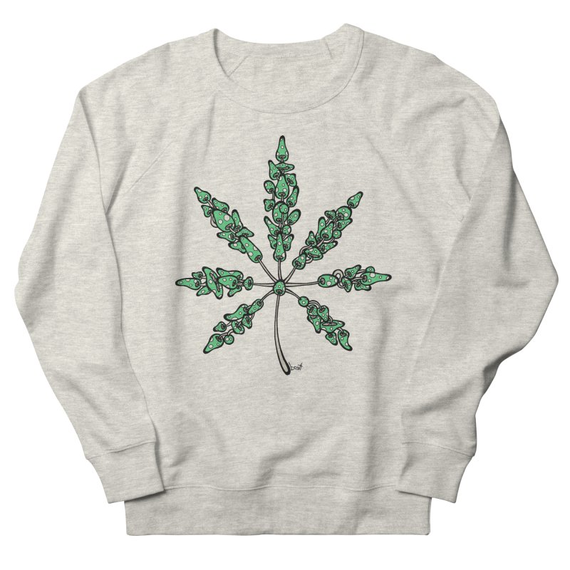 Leaf Made of Mushrooms (green version) Men's Sweatshirt by brettgilbert's Artist Shop