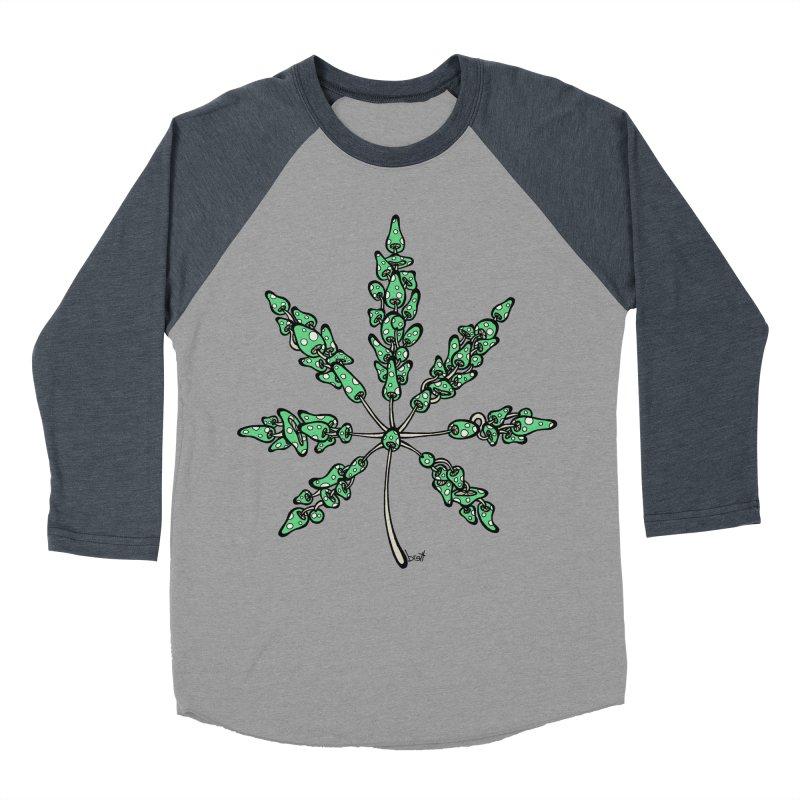Leaf Made of Mushrooms (green version) Women's Baseball Triblend Longsleeve T-Shirt by brettgilbert's Artist Shop