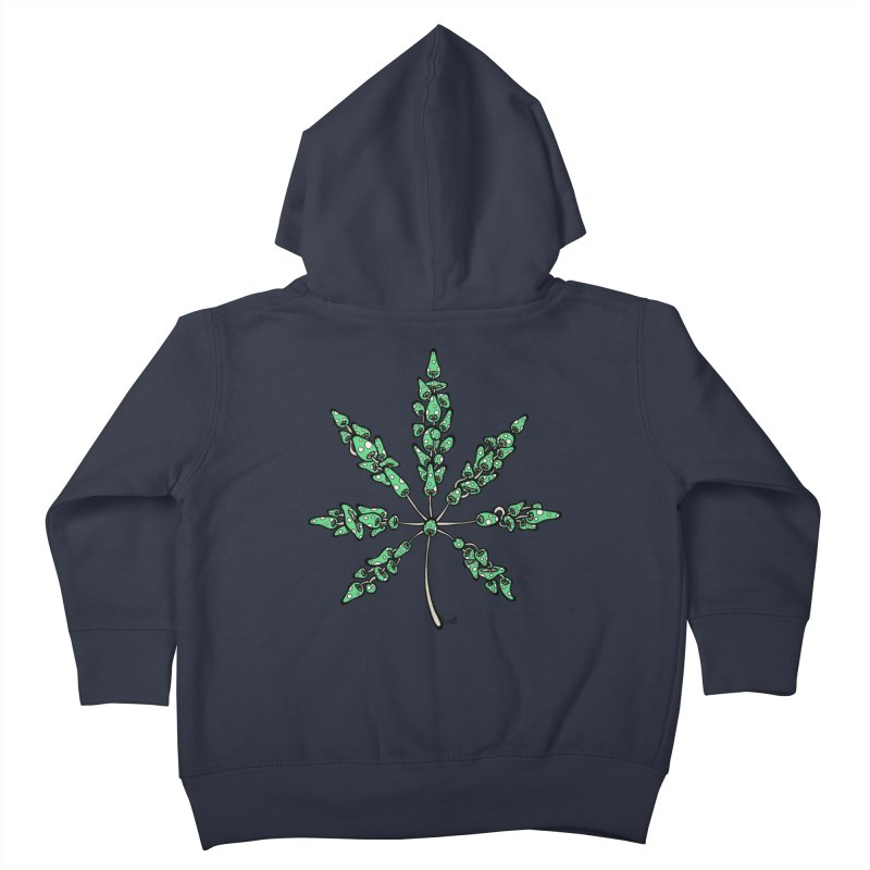 Leaf Made of Mushrooms (green version) Kids Toddler Zip-Up Hoody by brettgilbert's Artist Shop