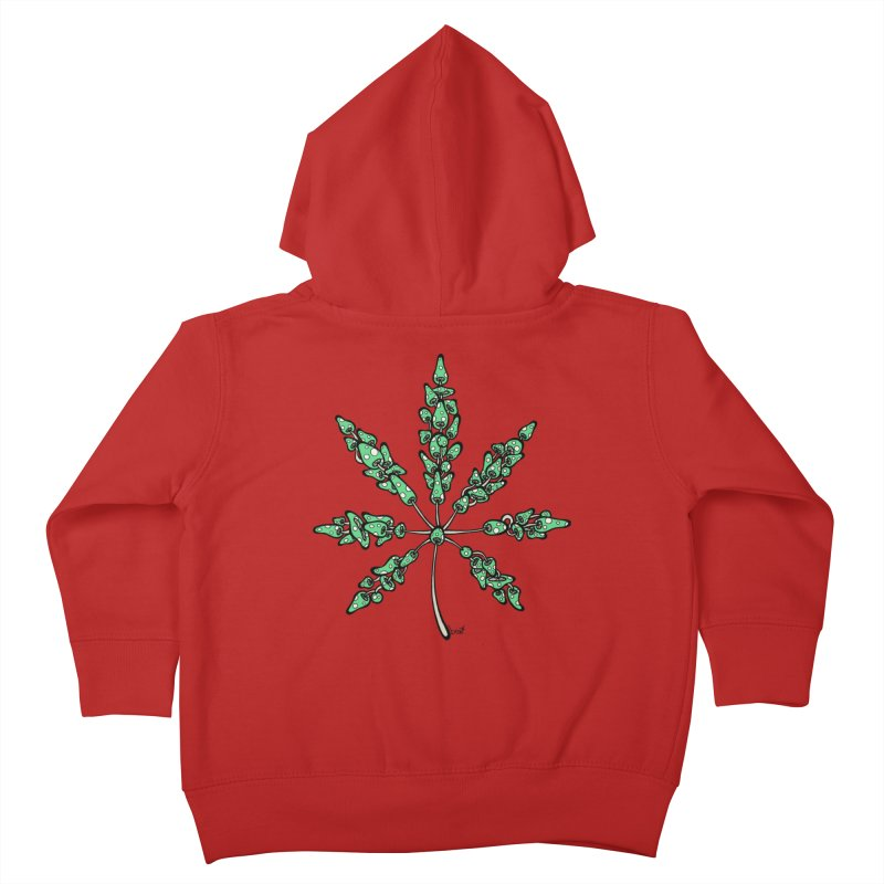 Leaf Made of Mushrooms (green version) Kids Toddler Zip-Up Hoody by brettgilbert's Artist Shop