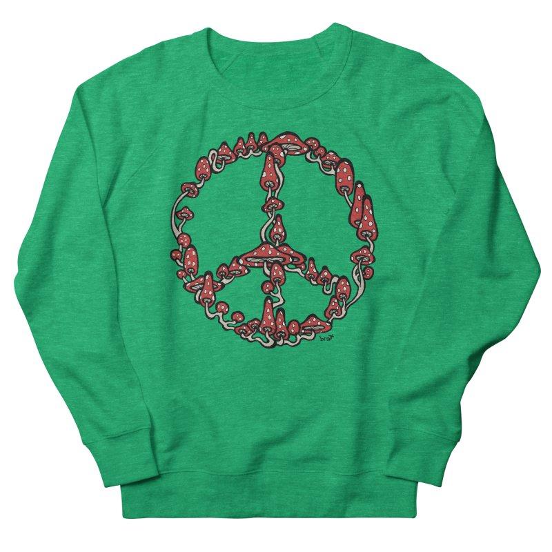 Peace Symbol Made of Mushrooms (red version) Men's Sweatshirt by brettgilbert's Artist Shop