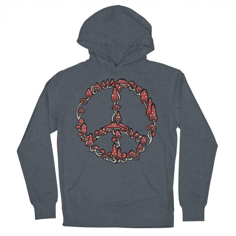 Peace Symbol Made of Mushrooms (red version) Women's Pullover Hoody by brettgilbert's Artist Shop