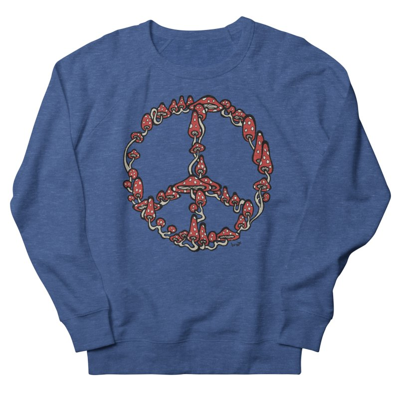 Peace Symbol Made of Mushrooms (red version) Women's Sweatshirt by brettgilbert's Artist Shop
