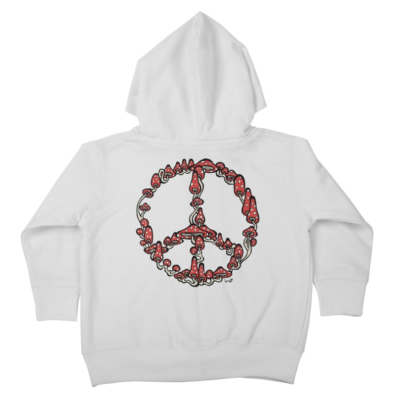 Peace Symbol Made of Mushrooms (red version) Kids Toddler Zip-Up Hoody by brettgilbert's Artist Shop