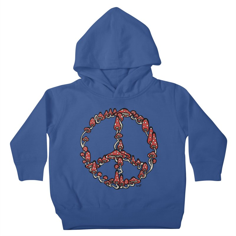 Peace Symbol Made of Mushrooms (red version) Kids Toddler Pullover Hoody by brettgilbert's Artist Shop
