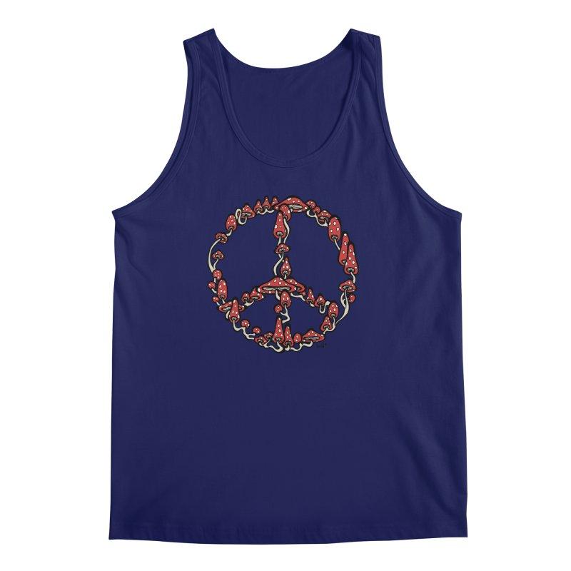 Peace Symbol Made of Mushrooms (red version) Men's Tank by brettgilbert's Artist Shop