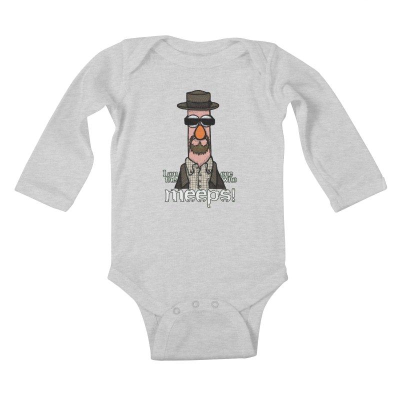 I Am The One Who Meeps Kids Baby Longsleeve Bodysuit by brettgilbert's Artist Shop