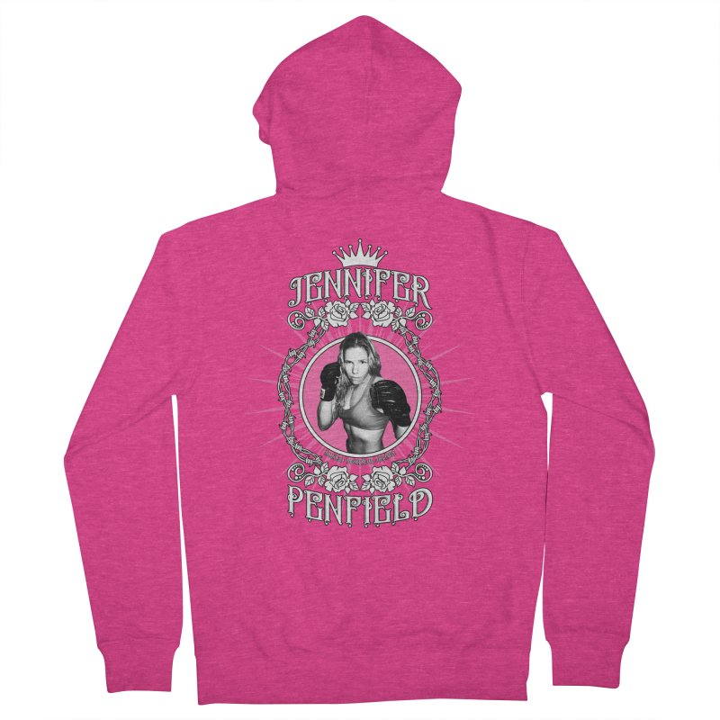 Jennifer Penfield Fighter Tee-Shirt Women's French Terry Zip-Up Hoody by brettgilbert's Artist Shop