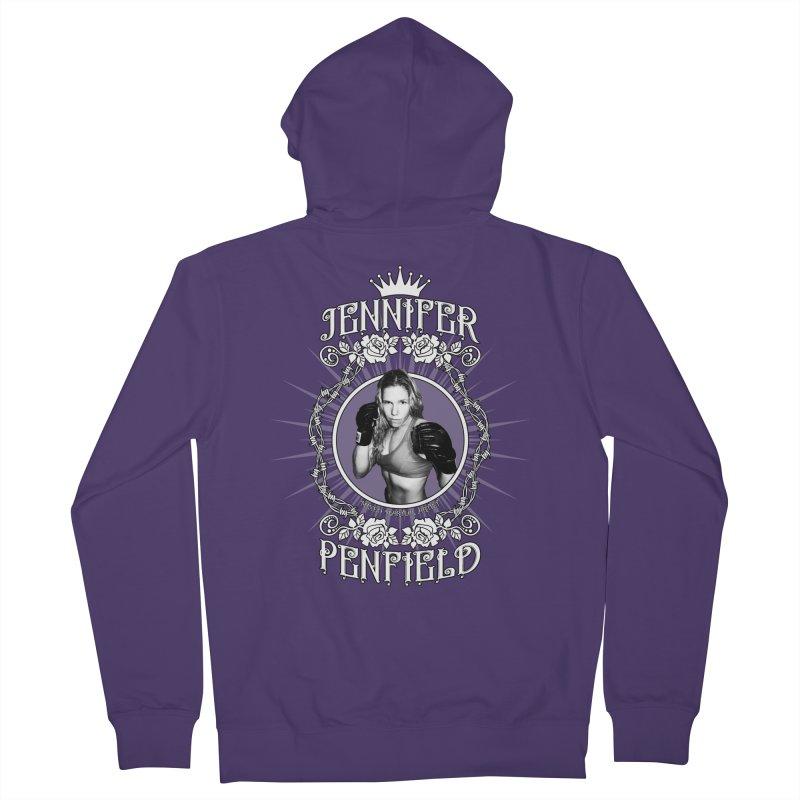 Jennifer Penfield Fighter Tee-Shirt Women's Zip-Up Hoody by brettgilbert's Artist Shop