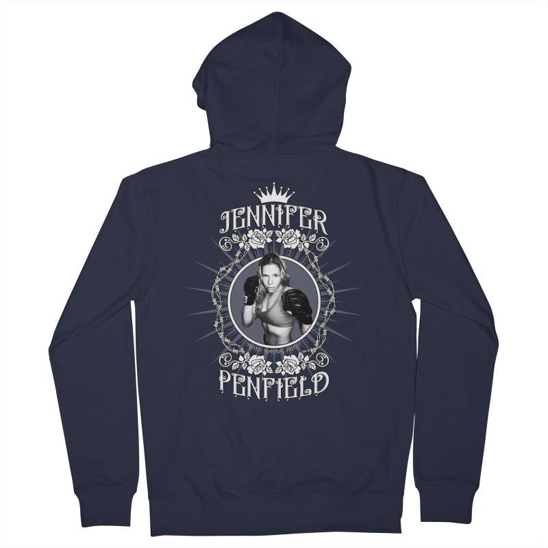 Jennifer Penfield Fighter Tee-Shirt Women's French Terry Zip-Up Hoody by brettgilbert's Artist Shop