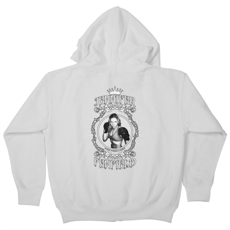 Jennifer Penfield Fighter Tee-Shirt Kids Zip-Up Hoody by brettgilbert's Artist Shop