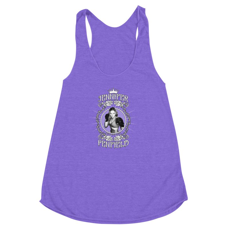 Jennifer Penfield Fighter Tee-Shirt Women's Racerback Triblend Tank by brettgilbert's Artist Shop
