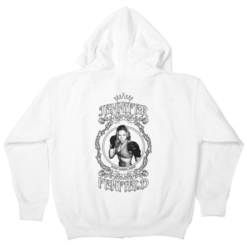 Jennifer Penfield Fighter Tee-Shirt Kids Zip-Up Hoody by brettgilbert's Artist Shop