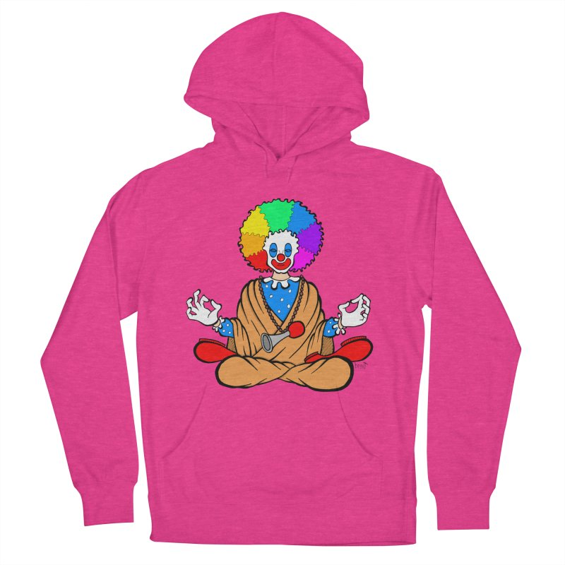 Zen Clown Women's French Terry Pullover Hoody by brettgilbert's Artist Shop