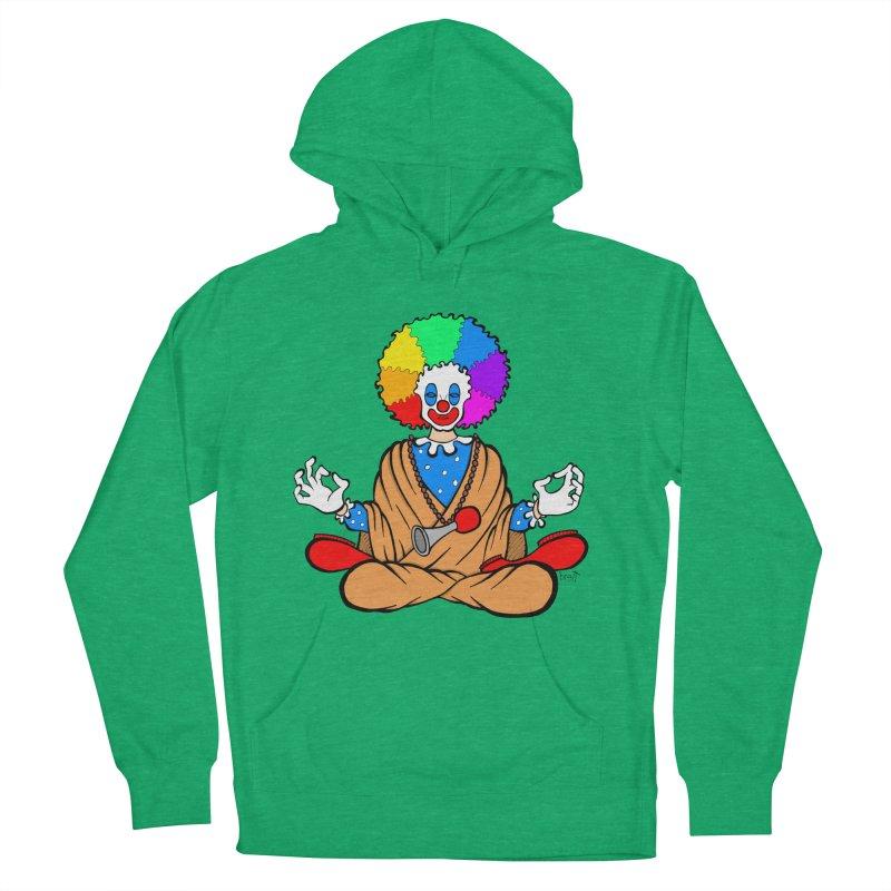 Zen Clown Men's French Terry Pullover Hoody by brettgilbert's Artist Shop