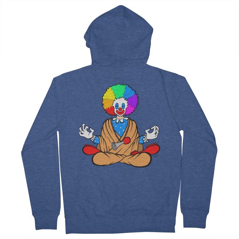 Zen Clown Women's French Terry Zip-Up Hoody by brettgilbert's Artist Shop