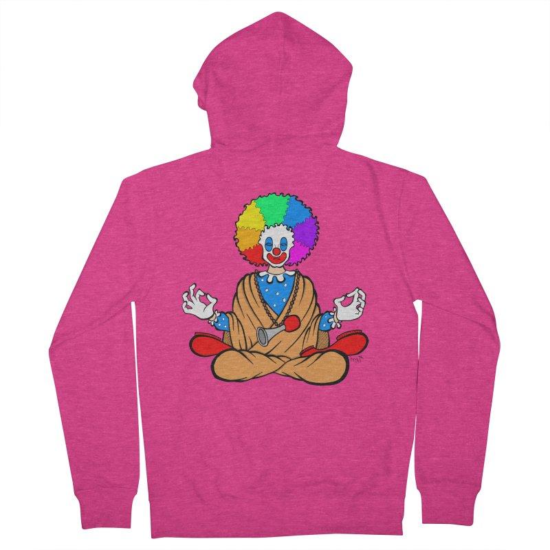 Zen Clown Women's Zip-Up Hoody by brettgilbert's Artist Shop
