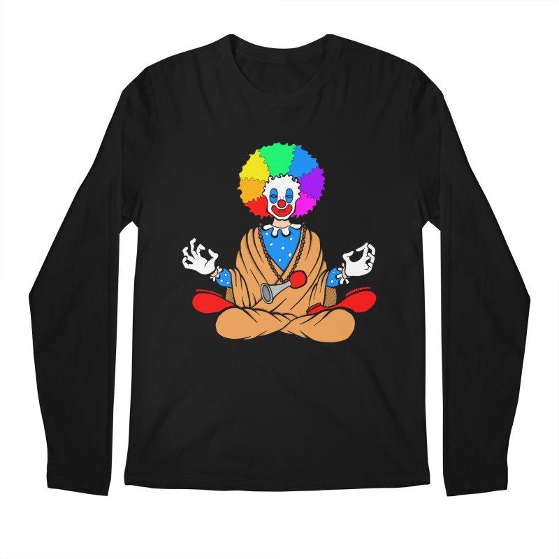 Zen Clown Men's Regular Longsleeve T-Shirt by brettgilbert's Artist Shop